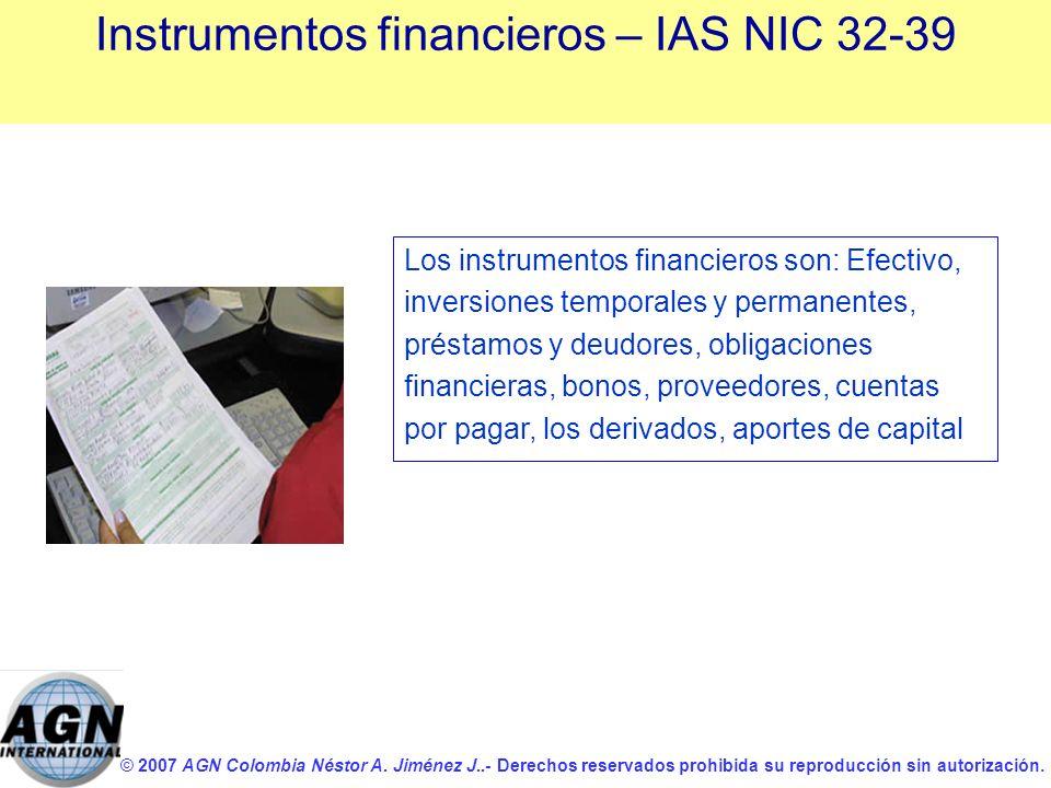 Instrumentos financieros – IAS NIC 32-39