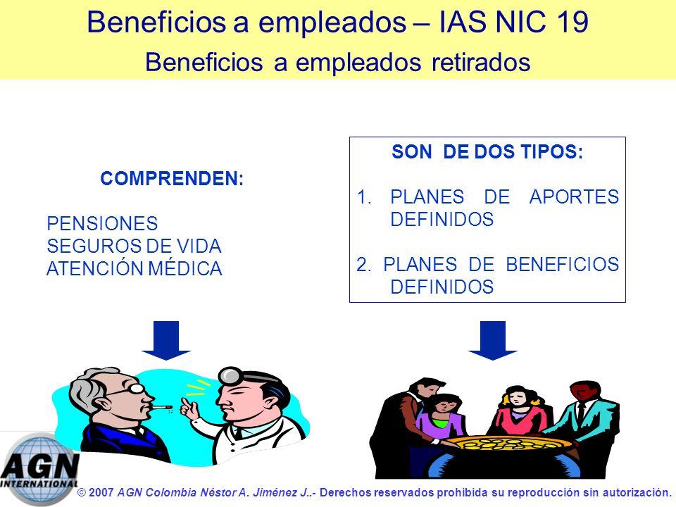 Beneficios a empleados – IAS NIC 19