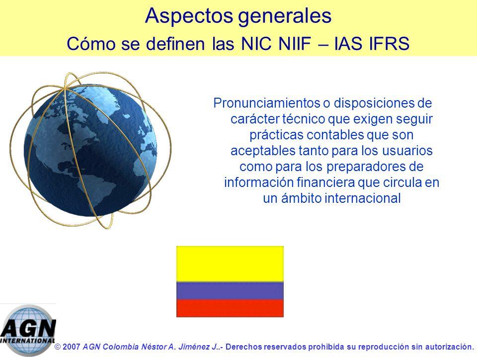 Cómo se definen las NIC NIIF – IAS IFRS