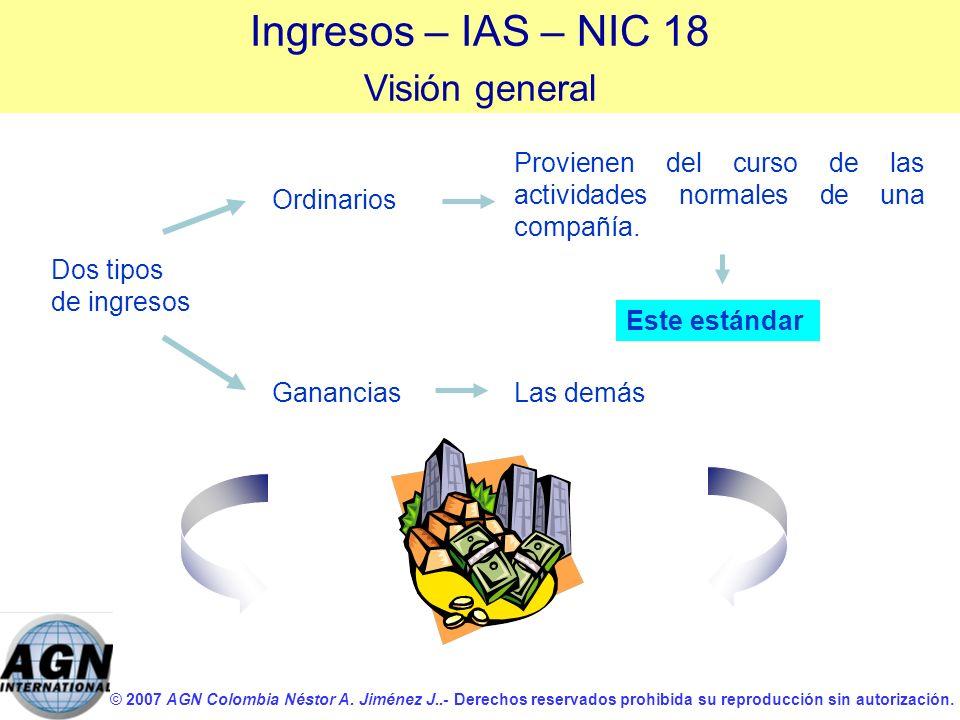 Ingresos – IAS – NIC 18 Visión general