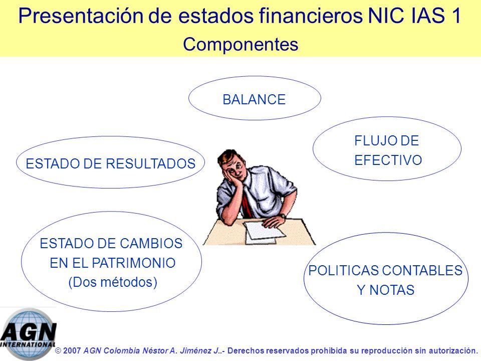 Presentación de estados financieros NIC IAS 1
