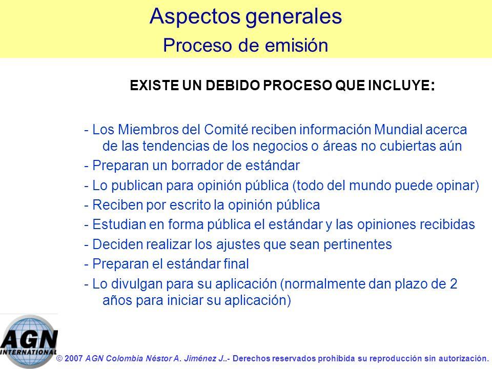 EXISTE UN DEBIDO PROCESO QUE INCLUYE: