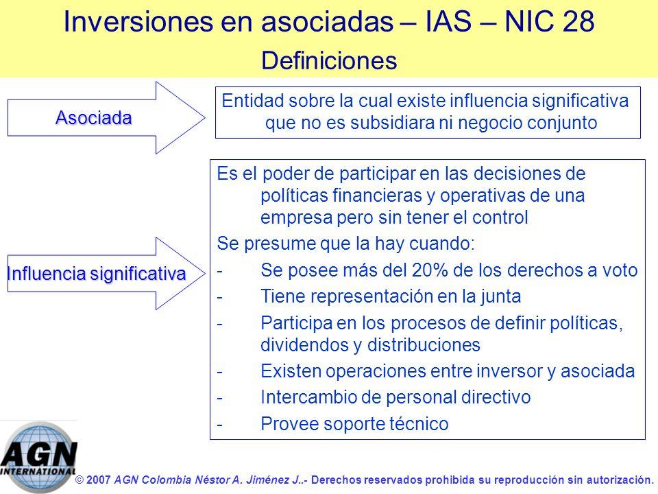 Inversiones en asociadas – IAS – NIC 28