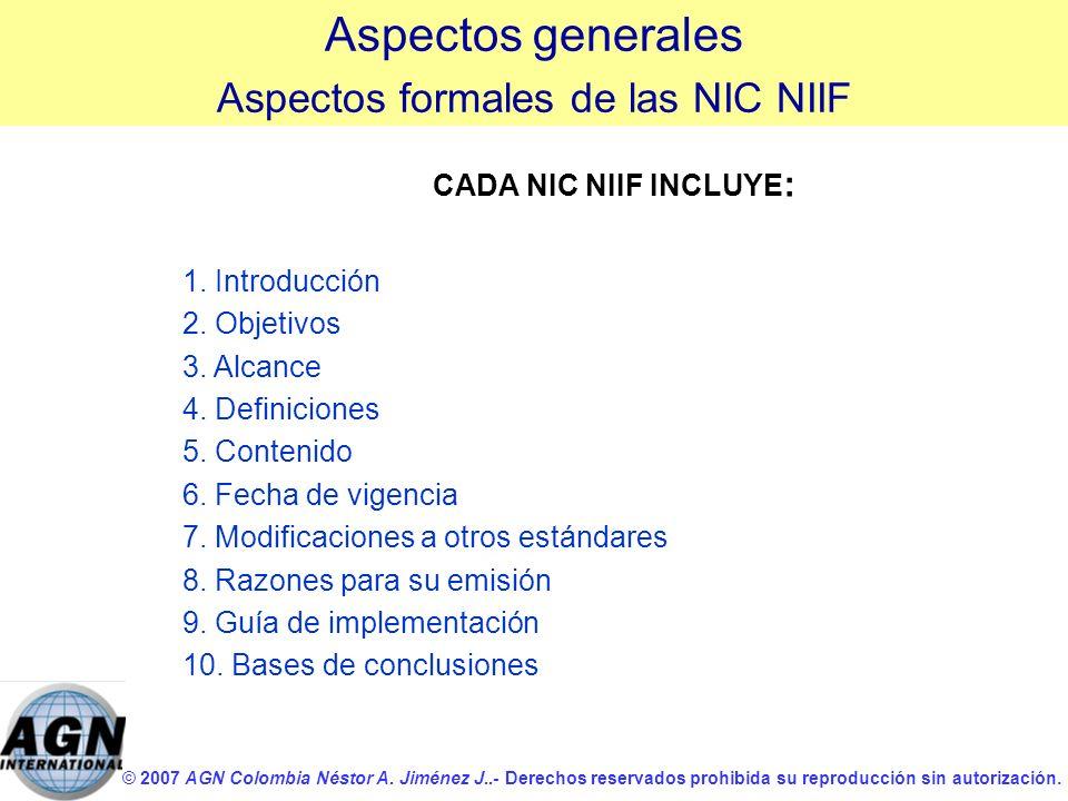 Aspectos formales de las NIC NIIF