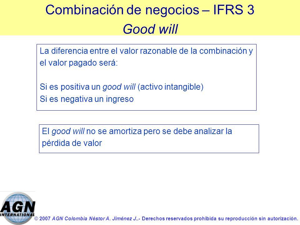 Combinación de negocios – IFRS 3