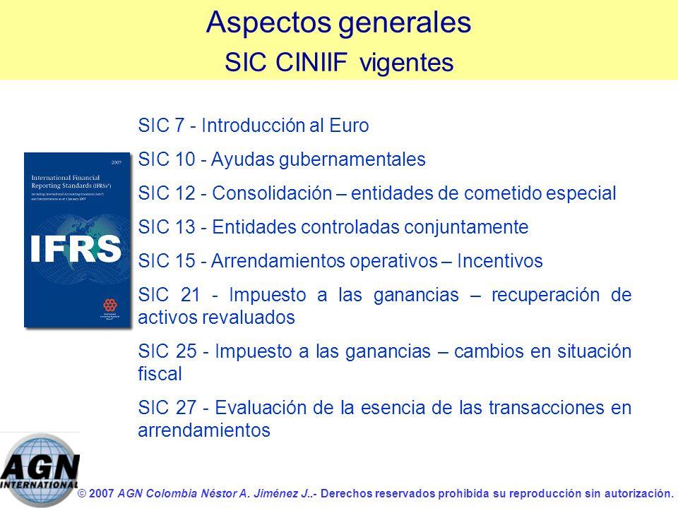 Aspectos generales SIC CINIIF vigentes SIC 7 - Introducción al Euro