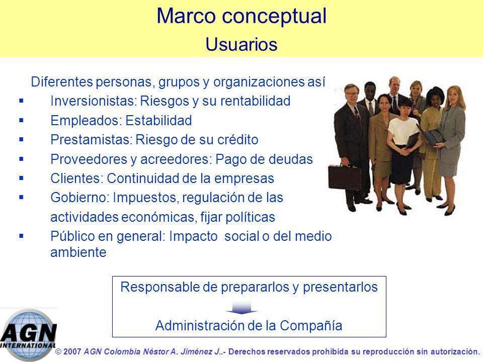 Marco conceptual Usuarios