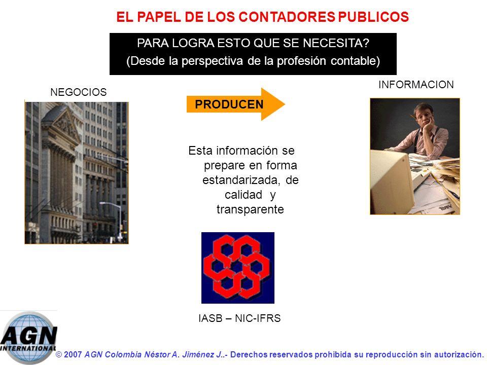 EL PAPEL DE LOS CONTADORES PUBLICOS