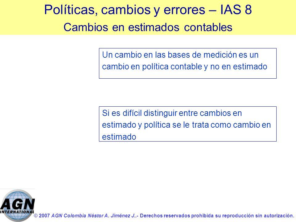 Políticas, cambios y errores – IAS 8
