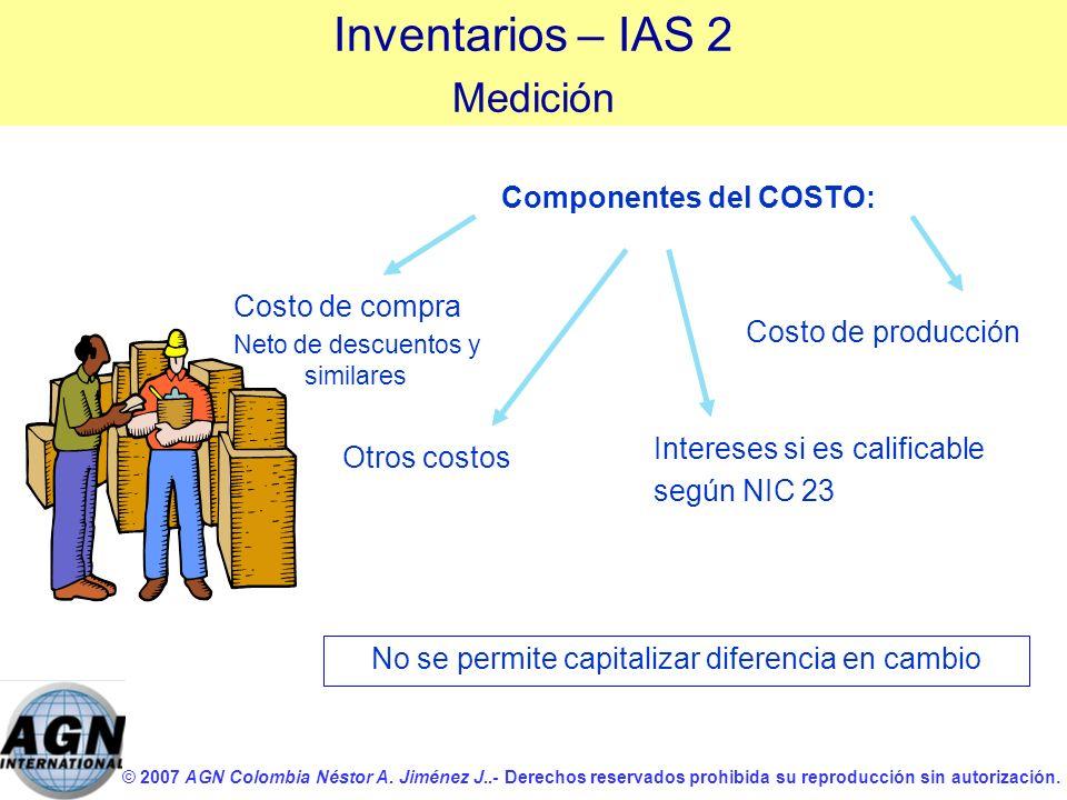 Componentes del COSTO: