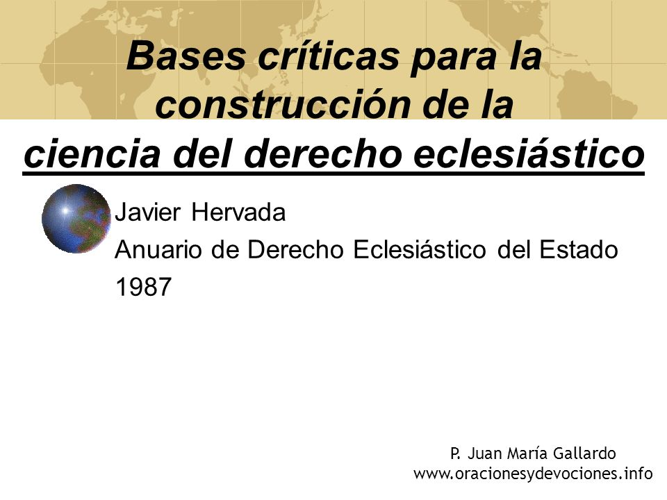 Javier Hervada Anuario de Derecho Eclesiástico del Estado 1987
