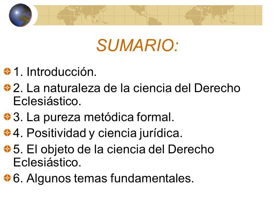 SUMARIO: 1. Introducción.