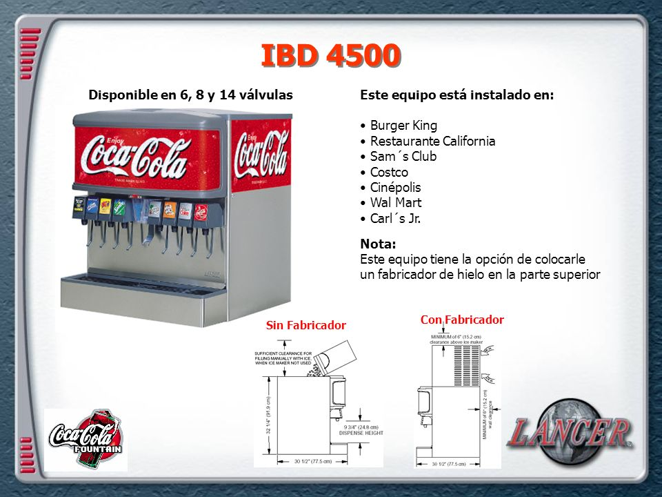 IBD 4500 Disponible en 6, 8 y 14 válvulas