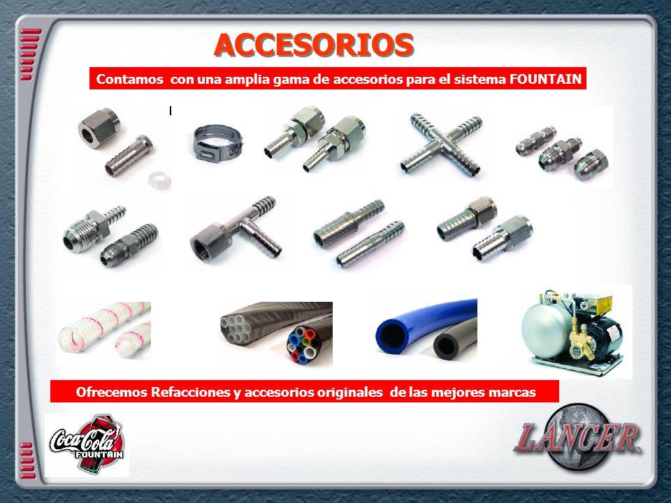 ACCESORIOS Contamos con una amplia gama de accesorios para el sistema FOUNTAIN.