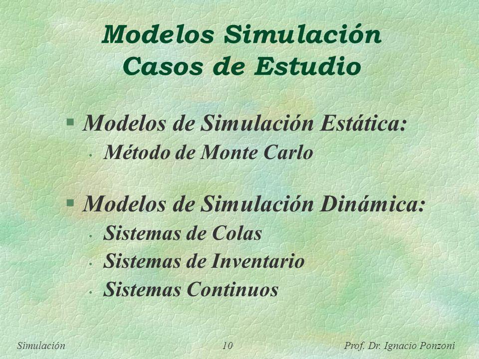 Modelos Simulación Casos de Estudio