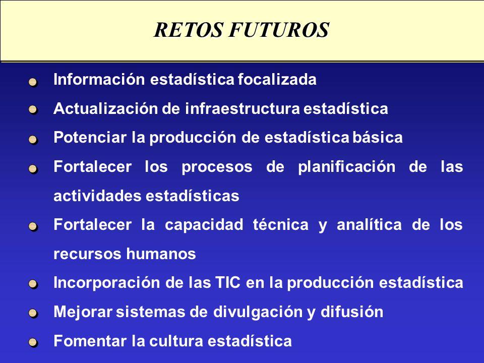 RETOS FUTUROS Información estadística focalizada