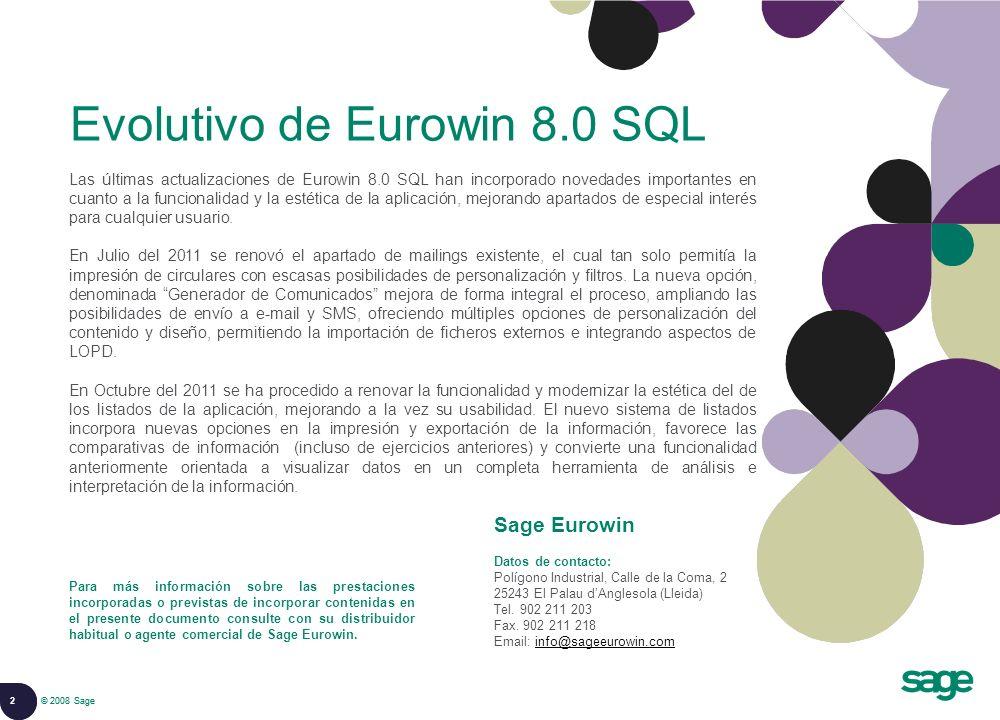 Evolutivo de Eurowin 8.0 SQL