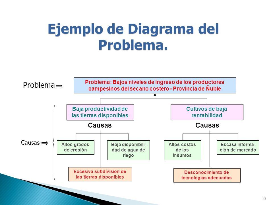 Ejemplo de Diagrama del Problema.