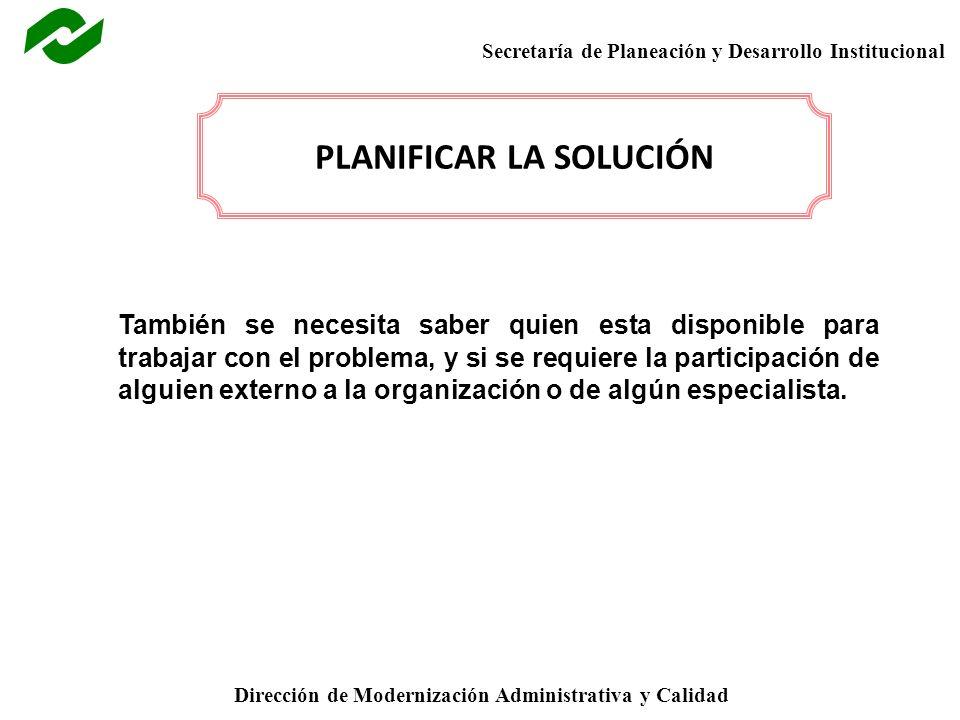 PLANIFICAR LA SOLUCIÓN
