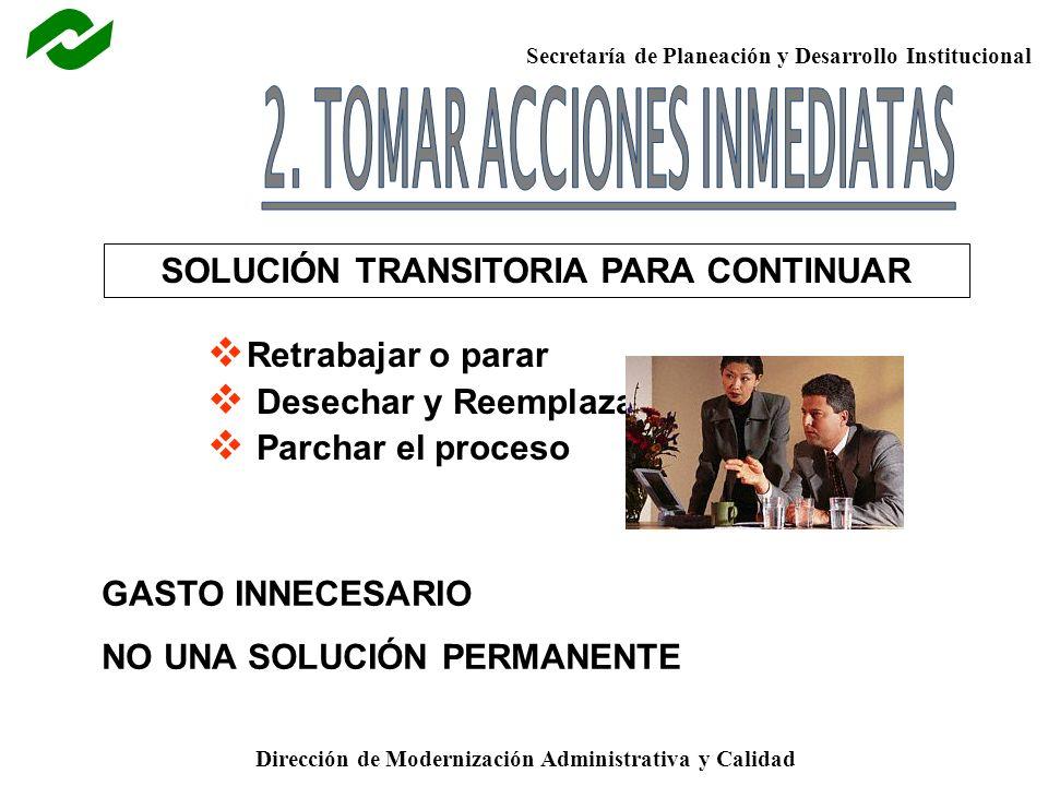 2. TOMAR ACCIONES INMEDIATAS SOLUCIÓN TRANSITORIA PARA CONTINUAR