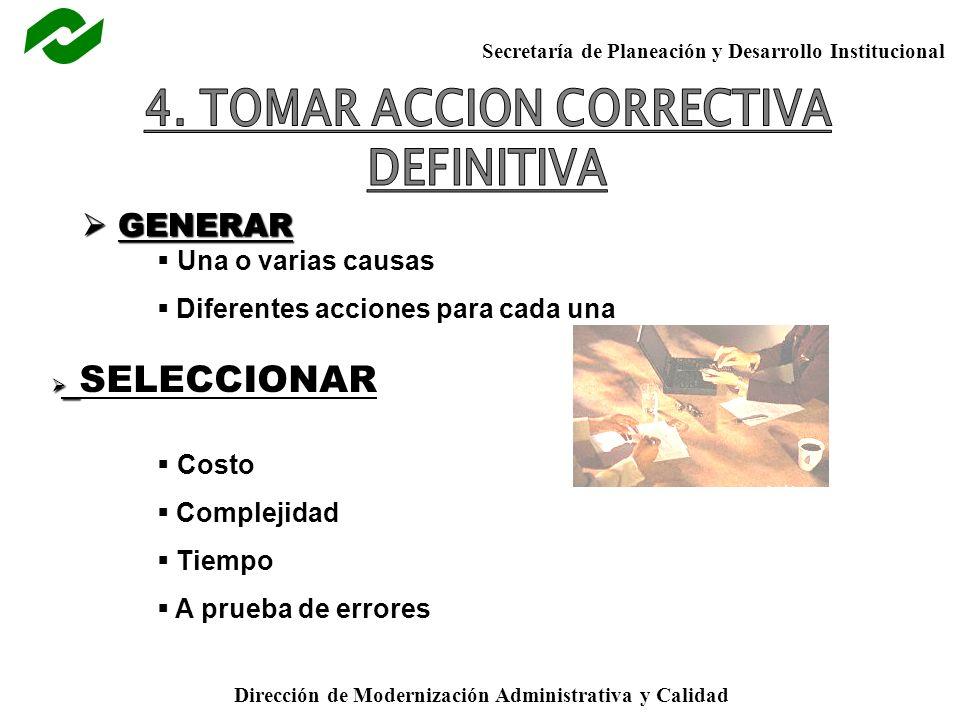 4. TOMAR ACCION CORRECTIVA