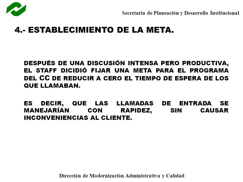 4.- ESTABLECIMIENTO DE LA META.