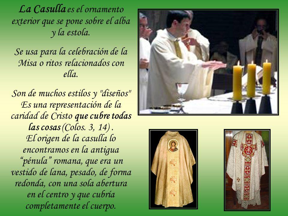 Se usa para la celebración de la Misa o ritos relacionados con ella.
