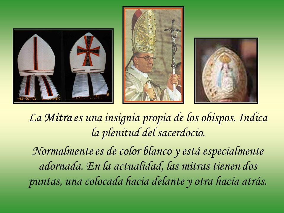 La Mitra es una insignia propia de los obispos