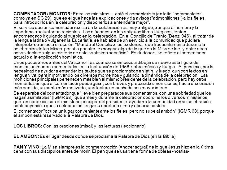 COMENTADOR / MONITOR: Entre los ministros