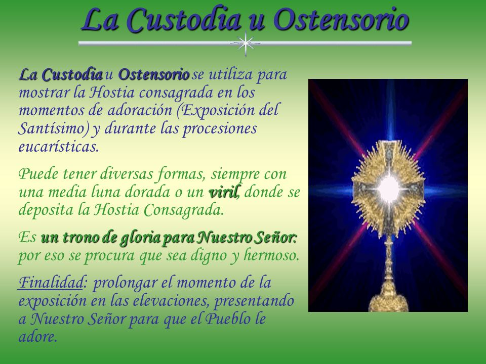 La Custodia u Ostensorio