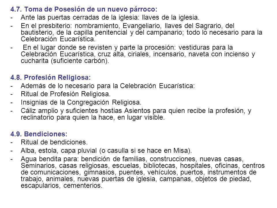 4.7. Toma de Posesión de un nuevo párroco: