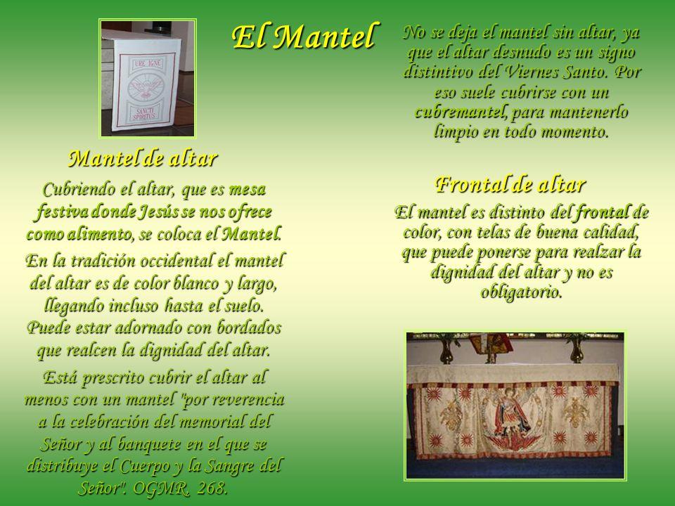 El Mantel Frontal de altar Mantel de altar
