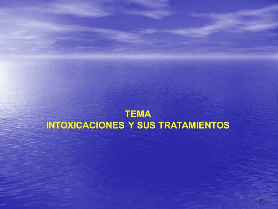 TEMA INTOXICACIONES Y SUS TRATAMIENTOS