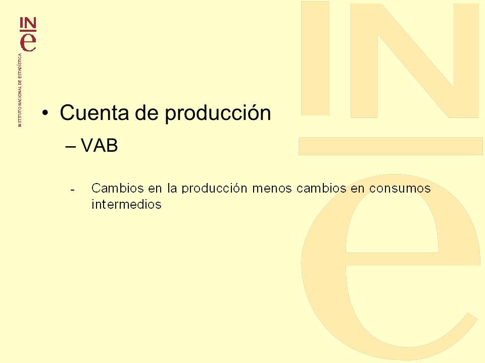 Cuenta de producción VAB
