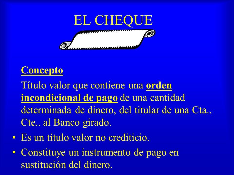 EL CHEQUE Concepto.