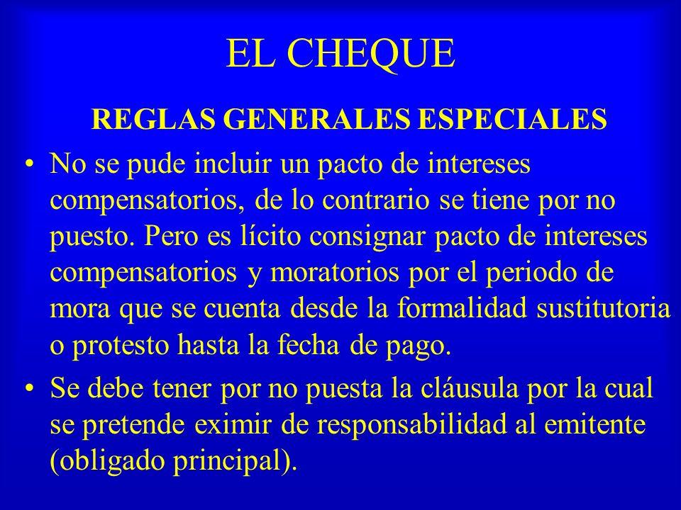 REGLAS GENERALES ESPECIALES