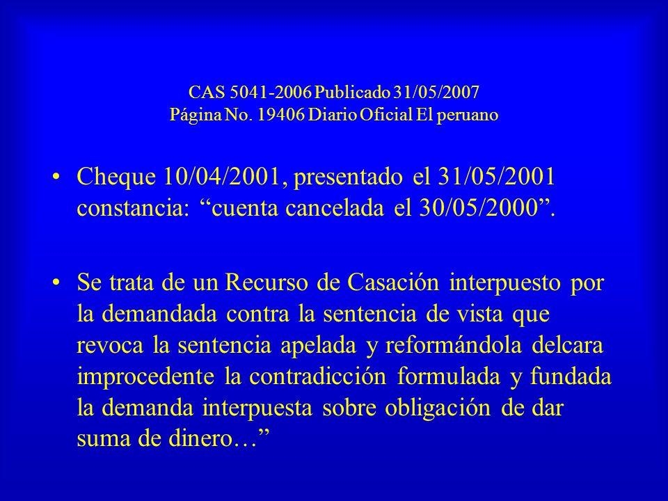 CAS 5041-2006 Publicado 31/05/2007 Página No