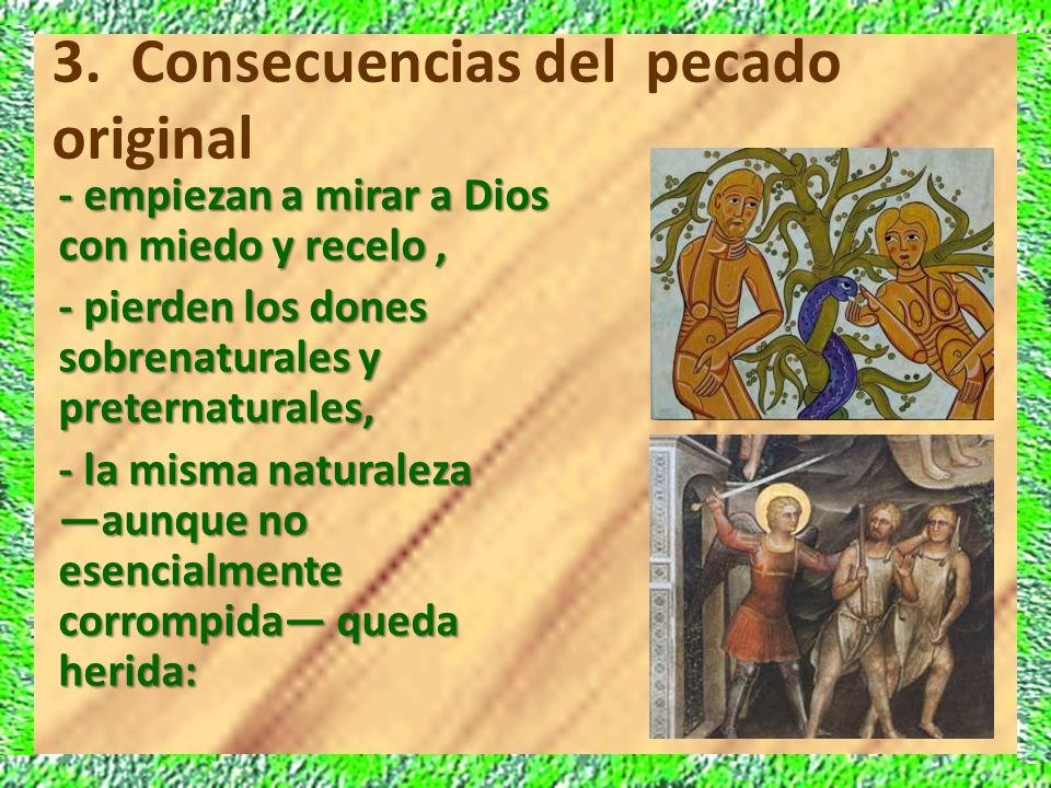 3. Consecuencias del pecado original