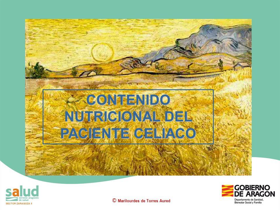 CONTENIDO NUTRICIONAL DEL PACIENTE CELIACO