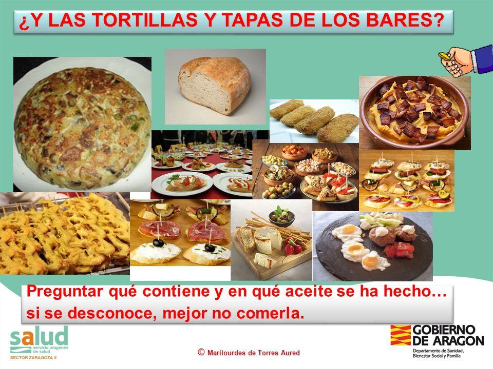 ¿Y LAS TORTILLAS Y TAPAS DE LOS BARES
