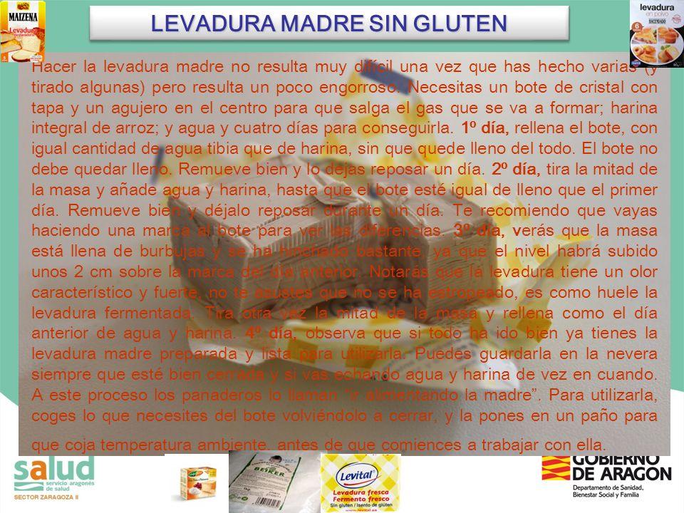 LEVADURA MADRE SIN GLUTEN