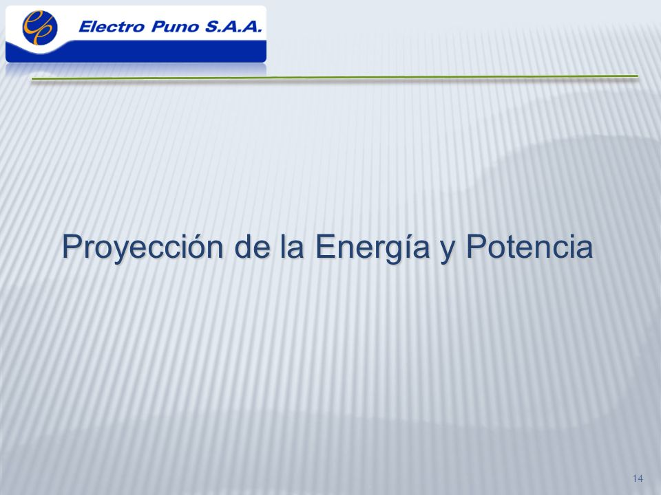 Proyección de la Energía y Potencia