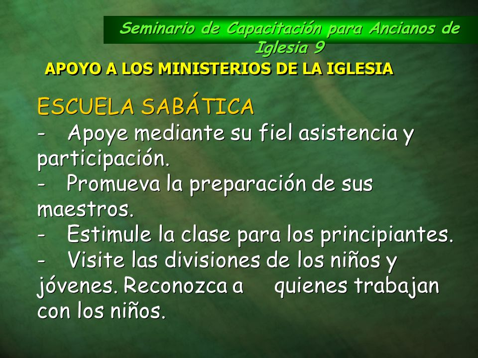Seminario de Capacitación para Ancianos de Iglesia 9