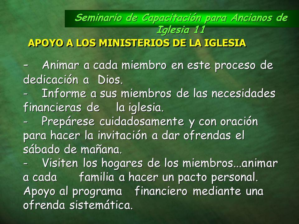 Seminario de Capacitación para Ancianos de Iglesia 11