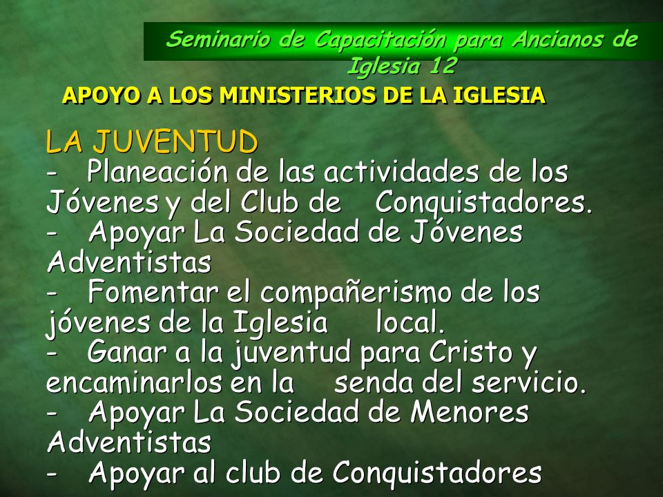 Seminario de Capacitación para Ancianos de Iglesia 12