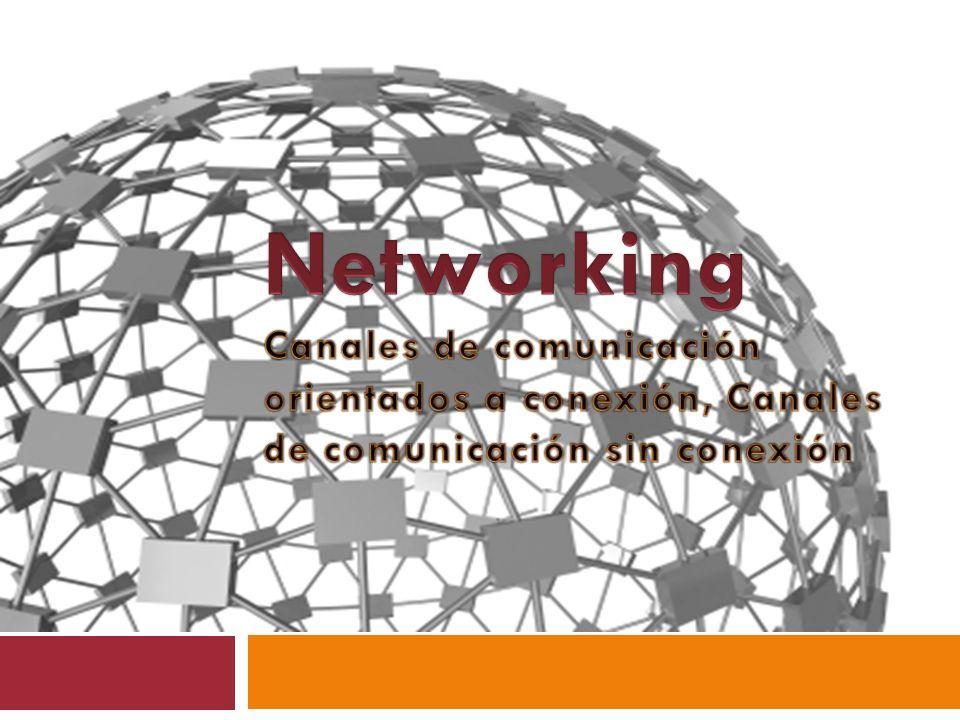 Networking Canales de comunicación orientados a conexión, Canales de comunicación sin conexión