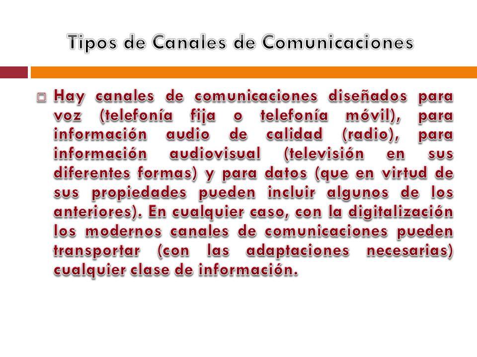 Tipos de Canales de Comunicaciones
