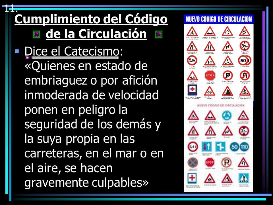 Cumplimiento del Código de la Circulación