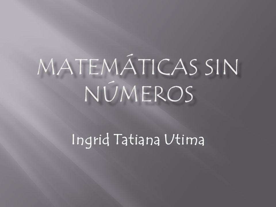 Matemáticas sin números