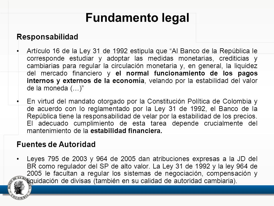 Fundamento legal Responsabilidad Fuentes de Autoridad